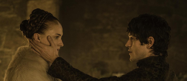 Sansa and Ramsay on Game of Thrones Season 5, Episode 6