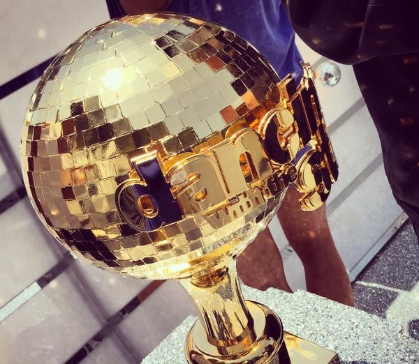 DWTS Season 20 Gold Mirror Ball Trophy