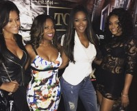 Kandi Burruss celebrates her birthday with some of the RHOA cast.