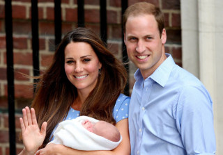 Kate Middleton, Prince William and baby Prince George in 2013.