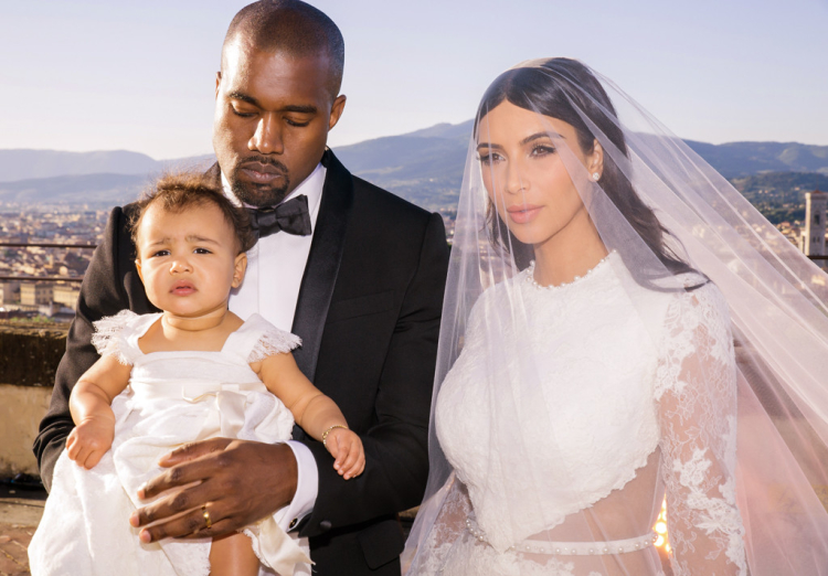 Kim Kardashian Kanye West North wedding pic