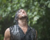 Daryl Dixon in the rain in The Walking Dead Season 5, Episode 10.