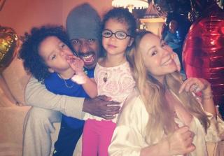Mariah Carey, Nick Cannon, Monroe, and Moroccan