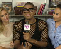 EJ Johnson, Dorothy Wang, and Morgan Stewart at Wetpaint Offices