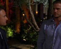 Chris Harrison and Ryan McDill in the Bachelorette Premiere