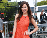 Bachelorette Kaitlyn Bristowe is all smiles, a day after being chosen as the new ABC Bachelorette