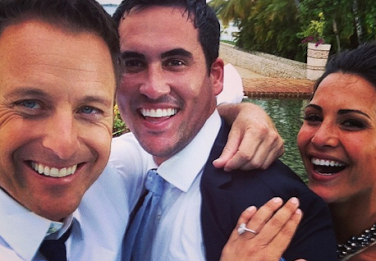 Chris Harrison, Andi Dorfman, and Josh Murray