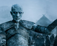 The White Walker King Glares on Game of Thrones Season 5, Episode 8