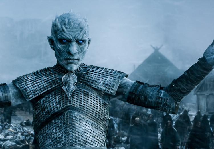 The White Walker King Glares on Game of Thrones Season 5, Episode 8