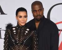 Kim Kardashian, Kanye West at 2015 CFDA Fashion Awards