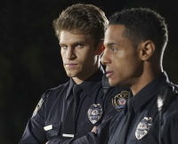 Toby and New Cop Lorenzo