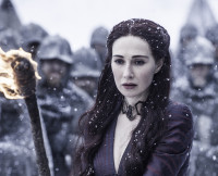 Melisandre and Her Fire on Game of Thrones Season 5, Episode 9