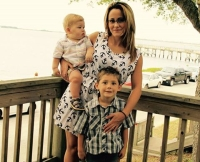 Jenelle Evans, Jace, and Kaisera at Graduation