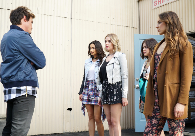 The Liars and Caleb on Pretty Little Liars Season 6, Episode 4