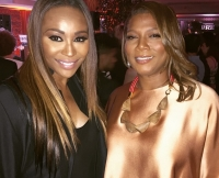 Cynthia Bailey and Queen Latifah at  Debra L. Lee's Pre-BET Awards Dinner on June 24, 2015