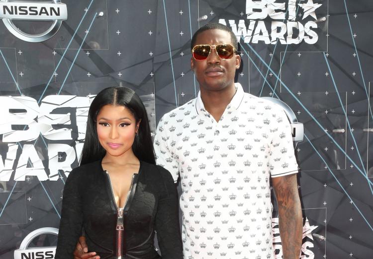 Nicki Minaj and Meek Mills at 2015 BET Awards