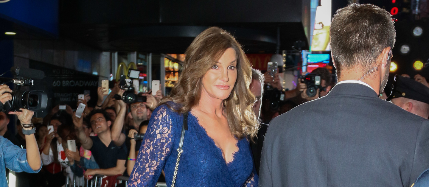 Caitlyn shows off her figure in a lacy dress.
