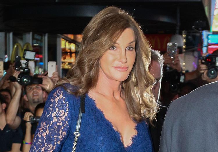 Caitlyn Jenner flaunts her cleavage.