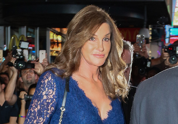 Caitlyn Jenner Flaunts Cleavage In Lace Dress For Broadway