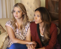Emily and Alison on Pretty Little Liars