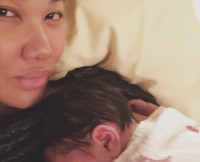 Kimora Lee Simmons With Son Wolfe Lee, April 2015