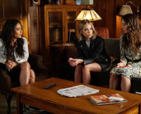 Emily, Hanna, and Spencer on Pretty Little Liars Season 6, Episode 8