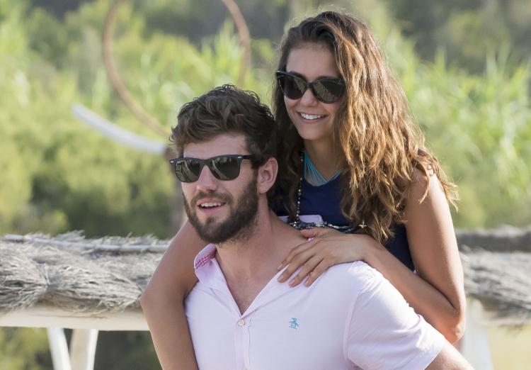 Austin Stowell Gives Nina Dobrev a Piggyback Ride