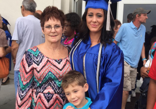 Jenelle Evans, Barbara and Jace on Graduation Day