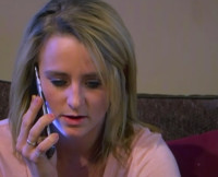Leah Messer on the Phone Teen Mom 2