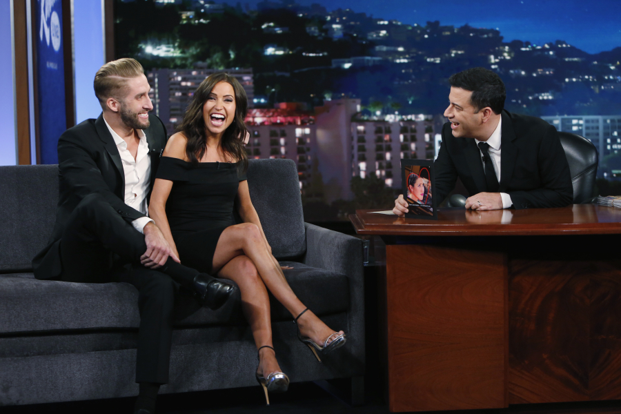 Kaitlyn Bristowe On Jimmy Kimmel With Shawn Booth PHOTOS