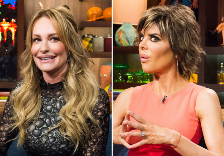 Lisa Rinna and Taylor Armstrong on WWHL