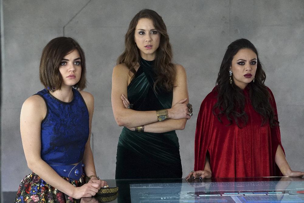 Pretty Little Liars Season 6 Finale:  Aria, Spencer, and Mona